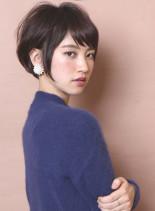 大人のモードフレンチショート(髪型ショートヘア)