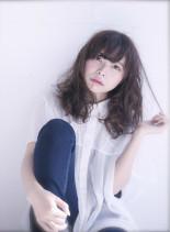 [大人NUDI]ミディアムウェーブ(髪型ミディアム)