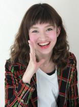 無造作 ムラ グラデーションカラー(髪型ミディアム)