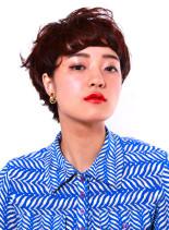 立体グラデーションショート(髪型ショートヘア)