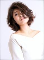 大人かわいいミディアムボブスタイル(髪型ボブ)