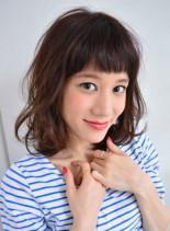 ナチュラルキュートミディ (髪型ミディアム)