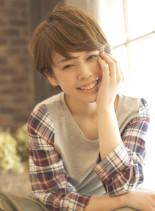 大人可愛いナチュラルふんわりショート☆(髪型ショートヘア)