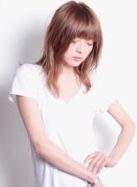 海外セレエブ風レイヤースタイル(髪型ロング)