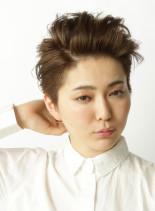 ワイルドグランジショート(髪型ショートヘア)