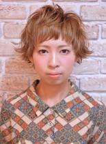 カジュアルマッシュショート(髪型ショートヘア)