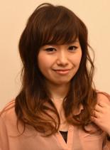 グラデーションカール(髪型セミロング)