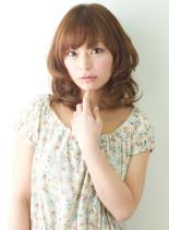 ふんわりシフォンミディ(髪型ミディアム)