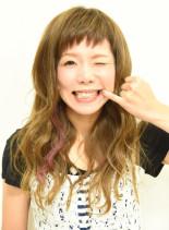 前髪短めPOP系ロング♪(髪型ロング)
