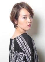 ツヤ感と締まりのあるSHORT HAIR(髪型ショートヘア)