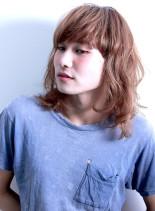 ラフ ミディアム レイヤー(髪型ミディアム)