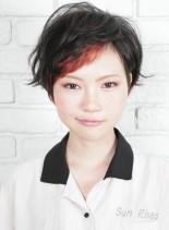 ボーイッシュショート(髪型ショートヘア)