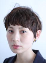 マッシュショート(髪型ショートヘア)