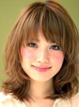 スウィートミディ シフォンカール(髪型ミディアム)