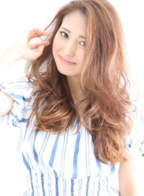 ロング 2015夏 中村アン風サマービーチヘア Laulea 表参道の髪型