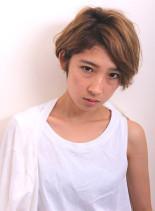 大人の ハイトーン ショート(髪型ショートヘア)