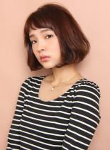 大人フェミニンなボブスタイル(髪型ボブ)