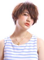 ラフなクールショート(髪型ショートヘア)