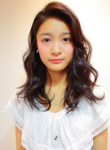 甘辛ミックスウェーブ(髪型セミロング)