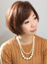 大人ナチュラルショート(髪型ショートヘア)