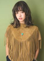 マッシュレイヤー×3Dカラー(髪型ミディアム)