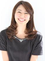 井川遥さん風☆上品上質な毛先カール(髪型セミロング)