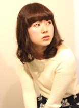 ラフゆるウェーブ(髪型ミディアム)