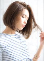 ファーストグレイカラー 美シルエットボブ(髪型ボブ)
