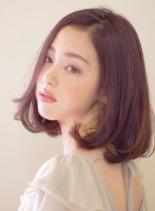ゆるふわシルエットボブ(髪型ミディアム)