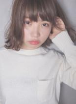 抜け感ハネパーマ(髪型ボブ)