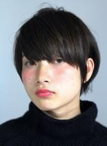キレイなフィット感のあるショートヘア(髪型ショートヘア)
