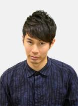 簡単刈り上げパーマ(髪型メンズ)