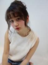 ルーズアレンジ(髪型ミディアム)