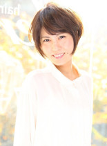 【☆大人シンプルショート】(髪型ショートヘア)