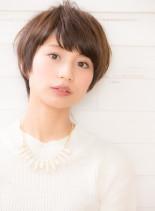 小顔キレイなふんわりショートヘア☆(髪型ショートヘア)