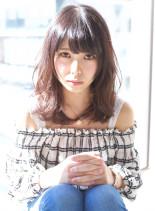 ニュアンスカールミディ(髪型ミディアム)