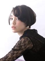 シンプルマニッシュショート(髪型ショートヘア)