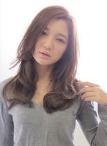 無造作セミディーカール(髪型ロング)