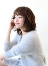 大人ふんわりミディ(髪型ミディアム)