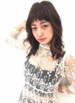 梨花風マッシュレイヤー&シースルーバング(髪型ミディアム)