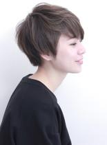 大人 かわいい ナチュラルショート(髪型ショートヘア)