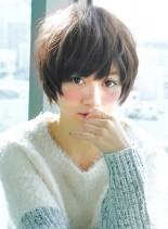 小顔ショート&大人可愛い(髪型ショートヘア)