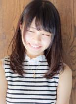 小顔バング 縮毛矯正にも対応(髪型ミディアム)