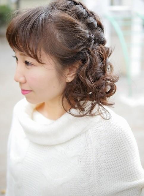 ゆるふわアレンジ【編込み】【サイド】(髪型ミディアム)