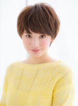 大人可愛い小顔フェミニンマッシュショート(髪型ショートヘア)