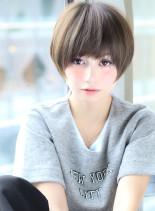 小顔ショート 縮毛矯正にも◎(髪型ショートヘア)
