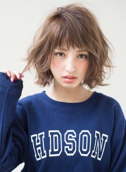 【ボブ】カジュアルパーマ アレンジヘア Afloat Japanの髪型・ヘアスタイル・ヘアカタログ|2019秋冬