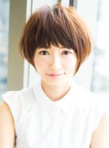 小顔マッシュショート(髪型ショートヘア)