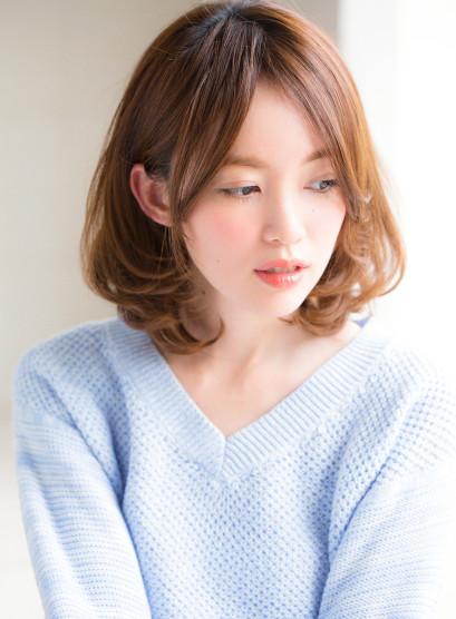 ひし形シルエット褒められミディアム(髪型ミディアム)
