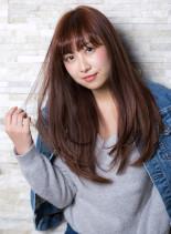 ツヤ髪ナチュラルストレート(髪型ロング)